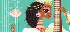 Art Divine: Hindu Mythologies in Pop Art style illustrations by Sanjay Patel of Pixar Studio   Whatever It's Worth…