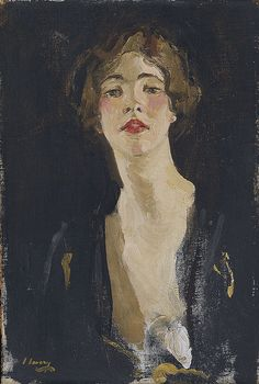 Portrait of Violet Trefusis (1919)   by John Lavery (Scottish, 1856-1941)    I like this portrait painting style