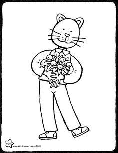 hola...estas flores son para ti - dibujo - dibujo para colorear - lámina para colorear Birthday Coloring Pages, Flowers For You, Saint Nicholas, Nouvel An, Puzzle Pieces, Pictures To Draw, Colouring Pages, Spring Colors, Book Crafts