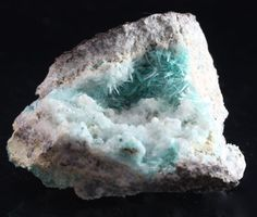 Aurichalcite This mineral is rare even when it is not as hairy and fibrous as this piece