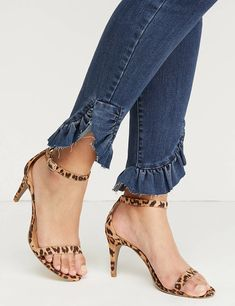 Shop wide width heels for season-savvy style. Shop our collection of plus size heels & wide width pumps at Lane Bryant today! Ankle Strap High Heels, Ankle Straps, High Heel Boots, Heeled Boots, Peep Toe Shoes, Pumps Heels, Jeans Refashion, Nursing Shoes, Studded Heels
