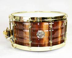14x4.5 or 14x7 black walnut stave snare drum