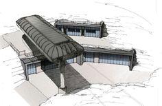 FIMA Architecture SA - gare bruson Public, Construction, Architecture, Building, Arquitetura, Architecture Illustrations