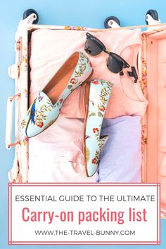 The only carry on packing guide you'll ever need! With this essentials carry on packing list and travel hacks for packing light, you'll learn how to fit everything you need to pack for your trip in just a carry-on bag so you can enjoy all the advantages of traveling with hand luggage only! This ultimate carry on packing list will help you travel to your destination with everything you need. Your perfect carry on packing list, guided by The #TravelBunny   #bag #packing #luggage #essentials