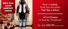 Held motorcycle onesie: The perfect addition to your Christmas list