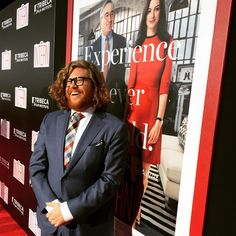 #ZackPearlman taking a style cue from #TheIntern #RobertDeNiro. Looking sharp on the red carpet!