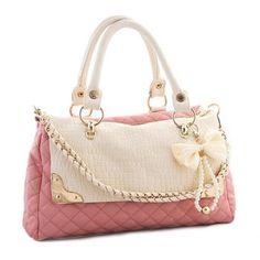 Casual Cuero de la PU Cadena perlas Bow Diseño Mujeres Tote para Vender - La Tienda En Online IGOGO.ES