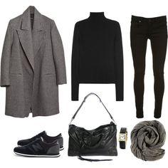 Negro y gris