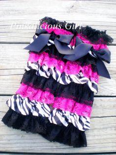 2a221a92426 Baby Girl Zebra Hot Pink Leg Warmer Infant by PinkaliciousGirl Leg Warmers