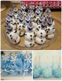 Festa Frozen - Mais de 30 ideias para se inspirar! | Ideias e Dicas para Festas Elsa Birthday Cake, Frozen Themed Birthday Party, Disney Frozen Birthday, Birthday Parties, Ana Frozen, Bolo Frozen, Frozen Cake, Frozen Dessert Table, Frozen Desserts