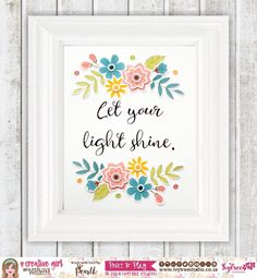 Ivytree Studio Let Your Light Shine, Punch Out, Foam Sheets, Glitter Glue, Flower Center, Glue Crafts, Flower Shape, Cover Pages, Easy Peasy