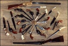 Excellent collection of the old west shooting irons