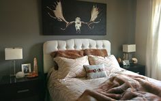 earthy living rom | The master bedroom features several earth tones and textures giving ...