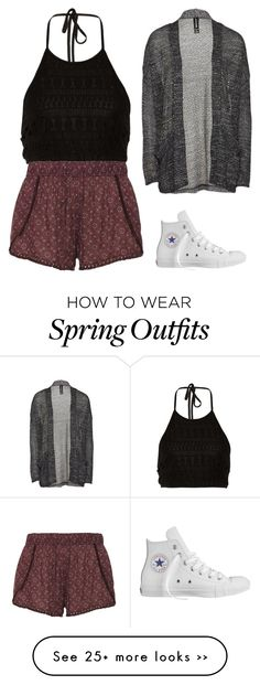 """spring outfit ""  on Polyvore featuring Converse"