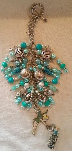 Tink in Teal Purse Charm   available at https://www.etsy.com/shop/magic365