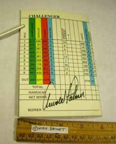 Arnold Palmer Golfer Autograph Bay Hill Club Lodge Orlando FL Photo Score Card | eBay