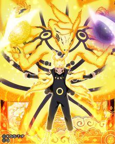 Uzumaki Naruto and Kurama (Naruto vs Sasuke) Naruto Vs Sasuke, Susanoo Naruto, Manga Naruto, Naruto Shippudden, Naruto Teams, Naruto Fan Art, Naruto Shippuden Anime, Itachi Uchiha, Wallpaper Naruto Shippuden