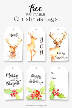 Printable tags for your Christmas gifts and decor – Hanna Nilsson Design Christmas Present Wrap, Diy Christmas Presents, Christmas Gift Wrapping, Christmas Gifts, Winter Christmas, Xmas, Christmas Ideas, Free Printable Christmas Gift Tags, Printable Tags