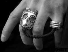 Weird & Wacky Fashion: Gas Mask Connecting Ring