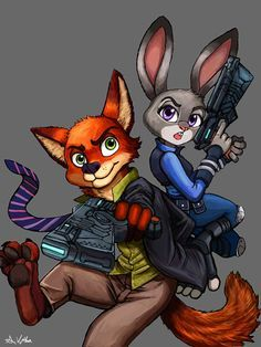 Nick and Judy - ZOOTOPIA/PSYCHOPASS Crossover by TheLivingShadow on DeviantArt