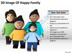3d image of happy family ppt graphics icons ppt graphics icons powerpoint Slide01