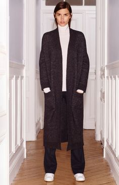 Extra Long Cardigan w/Pockets... My Fav! ZARA - #ZARALOOKBOOK - WOMAN - September