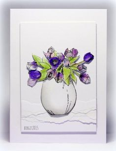 IC476 Tulips by Biggan - Cards and Paper Crafts at Splitcoaststampers