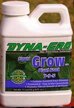 Dyna-Gro Liquid Grow 7-9-5 offers a complete plant nutrition to promote both foliage and blooms for container grown plants and hydroponics. The perfect formula used to solve any plant nutrient deficiencies. 8 oz.   $8.95 ea.