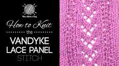 knitting lace stitches - YouTube