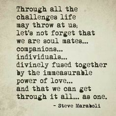 Our connection is amazing and scary but never forget we can get through this together!