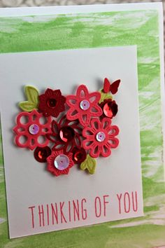 love the cluster of die-cut flowers