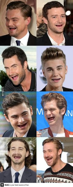 celebrities without teeth. Hahaha I seriously laughed out loud at Ryan Gosling