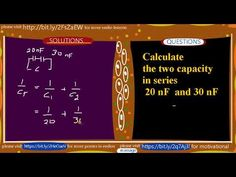 How to calculate capacitors in series