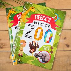 Perfect for little ones who are animal mad, take them on a journey with our personalised, 'A Day At The Zoo' story book! Add their name and a message for a fun gift. Buy now!