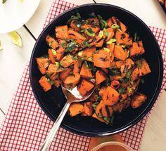 Sweet Potato and Poblano Salad with Honey and Rosemary