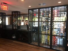 Metal and glass enclosed wine cabinet w led lighting and climate control Just Wine, Climate Control, Wine Wall, Wine Collection, Wine Cabinets, Wine Storage, Wine Cellar, Storage Solutions, Modern Design