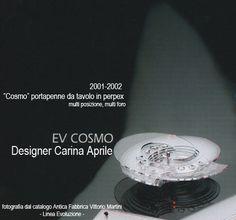 """Carina Aprile, design """"COSMO""""  Portapenne da tavolo  in perspex multi posizione, multi foro"""