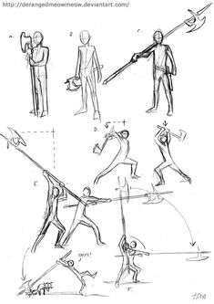 More sketches about holding axes and a little something on halberds. Axes and Halberds Axe Drawing, Drawing Base, Figure Drawing, Drawing Sketches, Drawings, Animation Reference, Drawing Reference Poses, Fighting Poses, Poses References