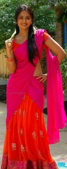 Indian Beauty Saree, Half Saree, Desi, Shoulder Dress, Formal Dresses, Beautiful, Fashion, Dresses For Formal, Moda