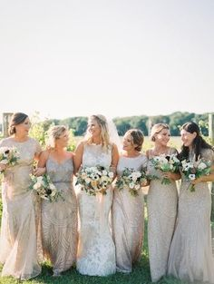 This Couple Brought All Things Italy to Their Stateside Celebration at Laurita Winery Bridal Wedding Dresses, Wedding Dress Styles, Bridesmaid Dresses, Bridesmaids, Beaded Gown, Celebration, Italy, Couple, Bridal Parties