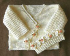 Ravelry: Crochet Baby Sweater Pattern PDF pattern by Annette Sanko.