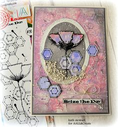 Hi folks, it's Tuesday and that means it's time to share this week's Guest Designer project for AALL&Create using the gorgeous Hexagonal St. Handmade Greetings, Greeting Cards Handmade, Art Trading Cards, Image Stamp, Card Making Inspiration, Watercolor Cards, Sympathy Cards, Paper Cards, Flower Cards