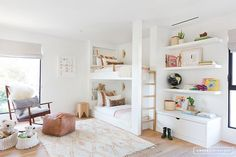 A Scandinavian Modern Cabin in the heart of Venice, California designed by Amber Lewis of Amber Interiors. Studio Apartment Storage, Girls Bedroom, Bedroom Decor, Bedroom Ideas, Bed Ideas, Decor Ideas, Condo Bedroom, Bedrooms, Bedding Decor