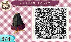 レザージャケとチェックスカート (3)