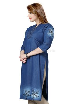 Denim Kurti DK-008 Price:Rs 1190.00 The kurtis provided by Denim are designed and stitched with utmost precision under the stern observation of our dedicated team of professionals at KashibaDenim with current fashion trends. Our Available Online Denim Kurtis Collection At: Mumbai,Ahmedabad,Chennai,Hyderabad & NewDelhi. #business7days.com