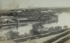 Looking north from the Flint P. Smith (later Sill) building in downtown Flint, Michigan in 1910.