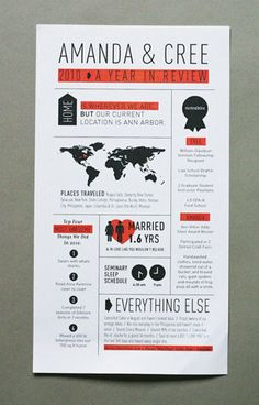 may have to do these instead of Christmas cards this year. #newsletter #infographic