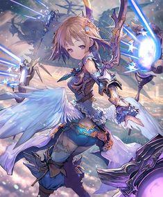 Card: Sahaquiel Fantasy Character Design, Character Design Inspiration, Character Art, Anime Warrior, Anime Demon, Anime Art Fantasy, Fantasy Girl, Anime Scenery, Beautiful Anime Girl