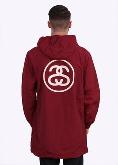 a8234a4aec38 Stussy SS Link Long Stadium Jacket - Burgundy - Stussy from Triads UK