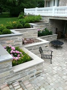 Burr Ridge Sunken Patio and Balcony - traditional - patio - chicago - Blanford Design